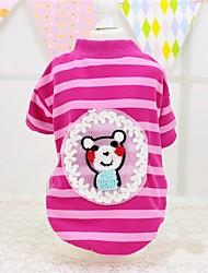 abordables -Perros / Gatos / Mascotas Camiseta Ropa para Perro A Rayas / Palabra / Frase / Caricatura Verde / Rosa Algodón Disfraz Para mascotas Mujer