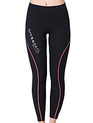 abordables -Dive&Sail Mujer Pantalones de neopreno 1,5 mm Prendas de abajo Mantiene abrigado, Secado rápido, Resistente a los UV Natación / Buceo / Surfing Un Color / Transpirable / Transpirable