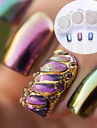 economico -4 pcs Polvere di glitter Effetto dello specchio / Glitter per unghie Nail Art Design Patinata Matrimonio / Serata / evento