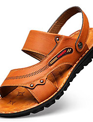 cheap -Men's PU(Polyurethane) Summer Comfort Sandals Light Brown / Dark Brown