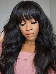 economico -Capello integro Lace frontale Parrucca Brasiliano Ondulato Parrucca 130% Per donna Lungo Parrucche di capelli umani con retina