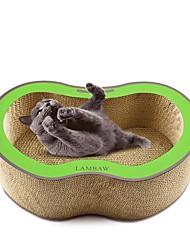Недорогие -Коты Кровати Животные Подкладки Однотонный Креатив Учебный Избавляет от стресса Прочный Красный Зеленый Для домашних животных
