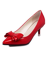 cheap -Women's Shoes PU(Polyurethane) Fall Comfort / Novelty Heels Stiletto Heel Pointed Toe Purple / Red / Pink / Party & Evening