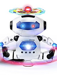cheap -RC Robot Infrared ABS Mini Singing Dancing LED Lights NO