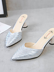 preiswerte -Damen Schuhe PU Sommer Fersenriemen / Pumps Cloggs & Pantoletten Blockabsatz Schwarz / Silber / Rosa