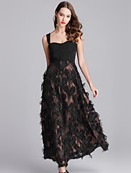 cheap -Women's Going out / Beach Street chic / Sophisticated Slim Sheath / Little Black / Swing Dress Strap / Summer