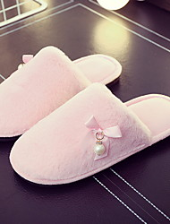 cheap -Women's Slippers Slide Slippers Ordinary Fleece solid color