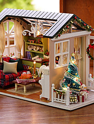 cheap -Dollhouse Creative Exquisite Christmas Mini House Romantic 1pcs Pieces All Gift