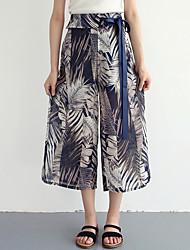 cheap -women's loose wide leg pants - floral high waist