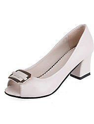 baratos -Mulheres Sapatos Courino Verão Plataforma Básica Saltos Salto Robusto Peep Toe Lantejoulas para Casamento / Festas & Noite / Escritório e