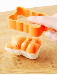 abordables -Herramientas de cocina Plásticos Nuevo diseño El moho de bricolaje Bolas de arroz 4pcs