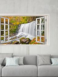 abordables -Autocollants muraux décoratifs / Autocollants de frigo - Autocollants muraux 3D Paysage / A fleurs / Botanique Salle de séjour / Salle de