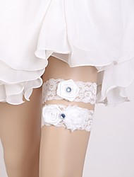 cheap -Lace Classic Jewelry / Lace Wedding Garter With Floral Garters Wedding / Party & Evening