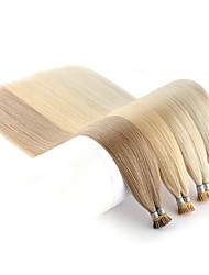 cheap -Neitsi Fusion / I Tip Human Hair Extensions Straight Black Blonde Human Hair Extensions Remy Human Hair Indian Hair 1pack Extention / New Arrival / Hot Sale Women's / Female