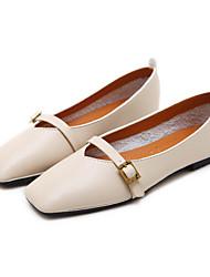 povoljno -Žene Cipele Poliuretan Proljeće ljeto Udobne cipele Ravne cipele Ravna potpetica za Vanjski Braon / Badem