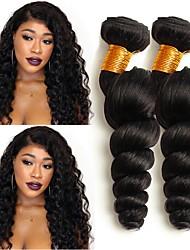 cheap -Malaysian Hair Wavy Human Hair Weaves 50g x 4 Hot Sale / Extention Human Hair Extensions All Christmas Gifts / Christmas / Wedding