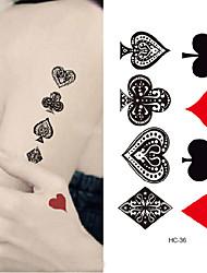 billiga -10 pcs Tatueringsklistermärken tillfälliga tatueringar Djurserier Body art arm
