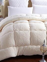 Недорогие -удобный - 1 покрывало Зима Натуральные волокна Однотонный