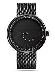 Недорогие -SINOBI Муж. Спортивные часы Китайский Ударопрочный / Повседневные часы / Крупный циферблат Нержавеющая сталь Группа Мода / минималист Черный / Два года / Sony SR626SW