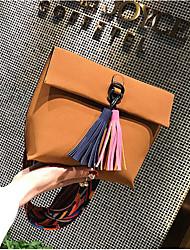 お買い得  -女性用 バッグ PUレザー ショルダーバッグ タッセル のために お出かけ ブラック / グレー / Brown