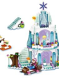 povoljno -Kocke za slaganje 299pcs Frozen Dvorac / Princeza / Serija prijatelja Kreativan Poklon
