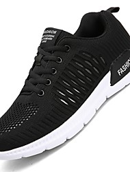 cheap -Men's Knit / Fabric Summer Comfort Athletic Shoes Running Shoes Black / Gray