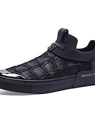 povoljno -Muškarci Cipele Tkanina Jesen Udobne cipele Natikače i mokasinke Crn