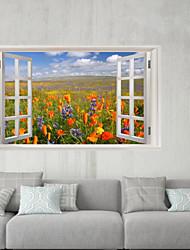 Недорогие -Наклейки на холодильник / Напольные наклейки - 3D наклейки Пейзаж / Цветочные мотивы / ботанический Спальня / Кухня