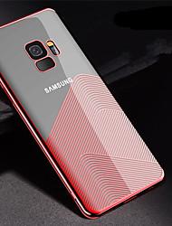 Недорогие -Кейс для Назначение SSamsung Galaxy S9 Plus / S9 Покрытие / Ультратонкий / Прозрачный Кейс на заднюю панель Полосы / волосы Мягкий ТПУ для S9 / S9 Plus