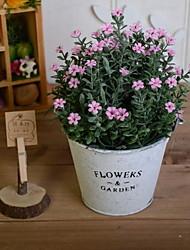 abordables -Fleurs artificielles 1 Une succursale Rétro Gypsophila Fleur de Table