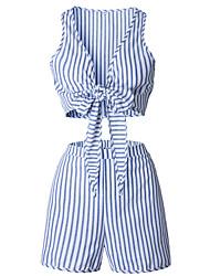 economico -Per donna Essenziale Set - Con stampe, A strisce Pantalone