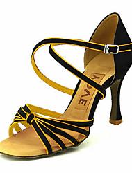 povoljno -Žene Latinski plesovi Standardni Saten Sandale Kopča Roza Plava Žuta Fuksija Ljubičasta Moguće personalizirati