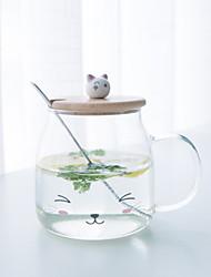 Недорогие -Drinkware Высокое боровое стекло Стекло / Кружка Теплоизолированные 1pcs