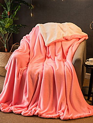 cheap -Coral fleece, Yarn Dyed Solid Colored Cotton / Polyester Blankets / Flannel