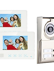 cheap -MOUNTAINONE SY811WMC12 Two Apartment Family Video Door Phone Hands-free 480*234Pixel One to Two video doorphone