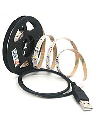 preiswerte -ZDM® 2m Leuchtgirlanden 300 LEDs SMD 2835 Warmes Weiß / Kühles Weiß Schneidbar / USB / Verbindbar USB angetrieben 1pc / Selbstklebend