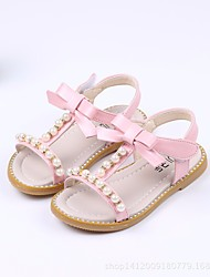 cheap -Girls' Shoes PU(Polyurethane) Summer Comfort / Flower Girl Shoes Sandals for White / Green / Pink