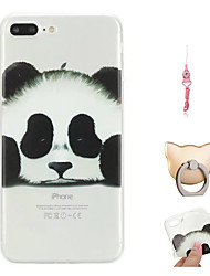 abordables -Funda Para Apple iPhone X / iPhone 8 Plus Diseños Funda Trasera Oso Panda Suave TPU para iPhone X / iPhone 8 Plus / iPhone 8
