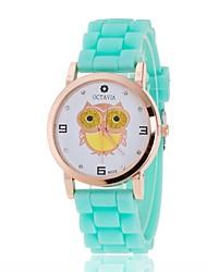 preiswerte -L.WEST Damen Quartz Armbanduhr Chinesisch Armbanduhren für den Alltag Silikon Band Freizeit Modisch Schwarz Weiß Blau Rot Grün Rosa Lila