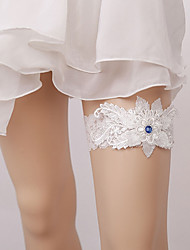 cheap -Gemstone / Lace Classic Jewelry / Lace Wedding Garter 617 Floral Garters Wedding / Party & Evening