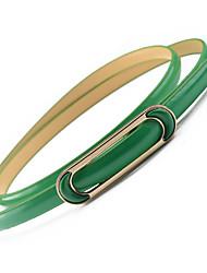 abordables -Mujer Cinturón Slim - Trabajo Un Color
