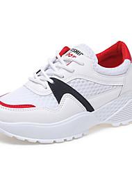 abordables -Mujer Zapatos Licra / PU Primavera verano Confort Zapatillas de deporte Tacón Plano Amarillo / Rojo
