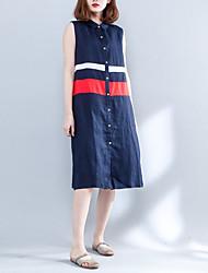 povoljno -Žene Swing kroj Haljina Color block Midi