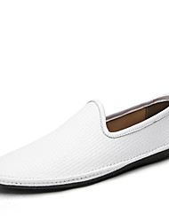 cheap -Men's Shoes Customized Materials Spring Fall Comfort Loafers & Slip-Ons for Casual Office & Career White Black
