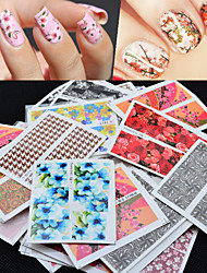 cheap -50 pcs Nail Decals Stickers & Tapes / Nail Sticker Stickers Stickers