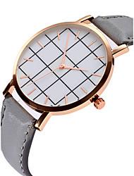 baratos -Mulheres Quartzo Relógio de Pulso Chinês Cronógrafo PU Banda Luxo / Rígida Azul / Vermelho / Cinza / Chocolate