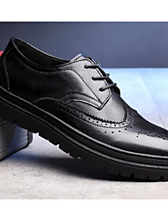 povoljno -Muškarci Cipele Koža Jesen Udobne cipele Oksfordice Crn