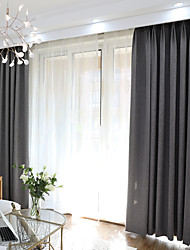 cheap -Blackout Curtains Drapes Bedroom Solid Colored Polyester Blend Yarn Dyed