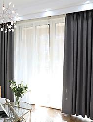 abordables -Rideaux occultants rideaux Chambre à coucher Couleur Pleine Mélange de polyester Teinture