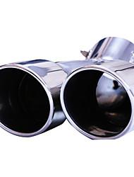 Недорогие -1 шт. 63mm Советы по выхлопной трубе изогнутый Нержавеющая сталь Глушители выхлопа For Nissan певчая птица Все года